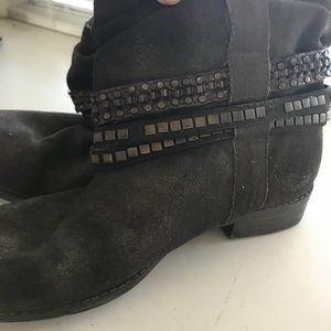 Dolce Vita suede studded ankle boots